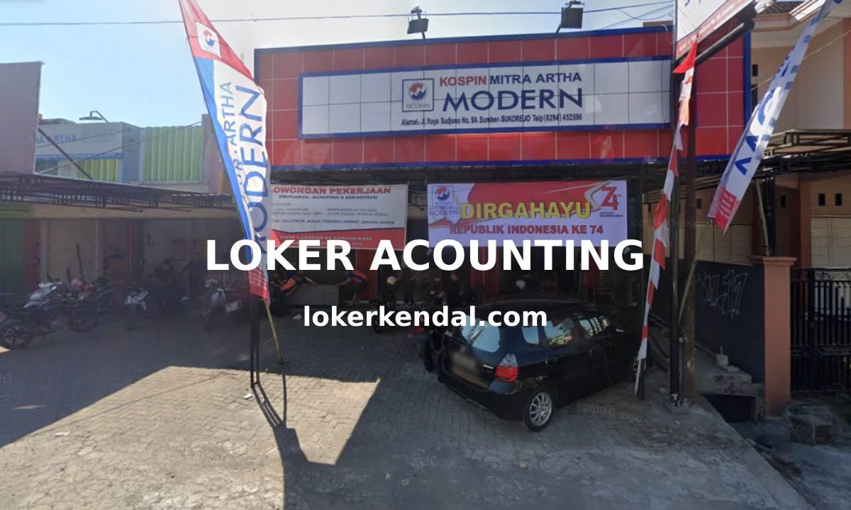 Lowongan Kerja Accounting / Keuangan di Kospin Mitra Artha Modern Sukorejo Kendal